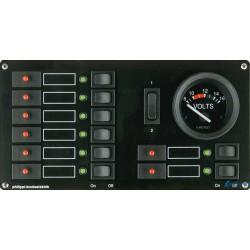Rozdzielnia 12V z miernikiem analogowymi STV 118