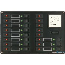 Rozdzielnia 12V z miernikiem analogowymi STV 311/5