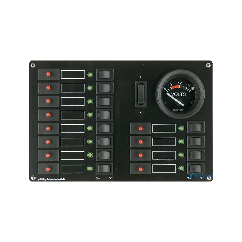 Rozdzielnia 12V z miernikiem analogowymi STV 412