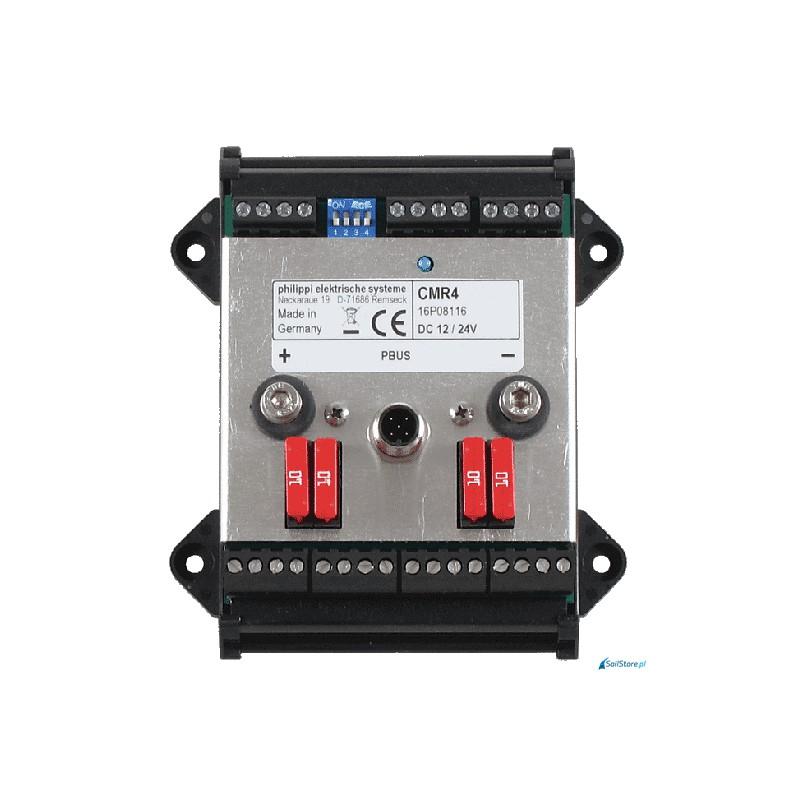 CMR 4 - interfejs umożliwiający sterowanie 4 przekaźnikami monostabilnymi (10A) z poziomu wyświetlaczy systemu PSM