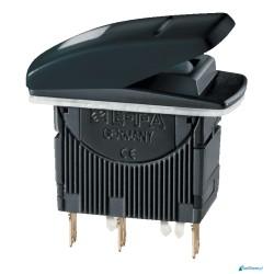 Wodoodporny (IP66) trzypozycyjny przycisk ( 1)-0-(2) bez zabezpieczenia - seria 700