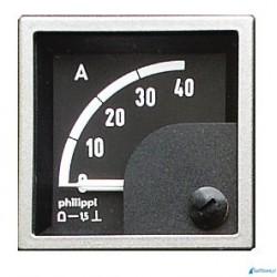 Miernik analogowy - SQB 0-40A/60mV amperomierz (do zewnętrznego bocznika)