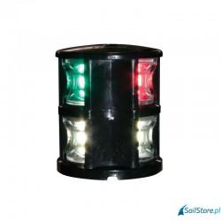 Lalizas - lampa nawigacyjna FOS LED 12 topowa trójsektorowa + światło kotwiczne