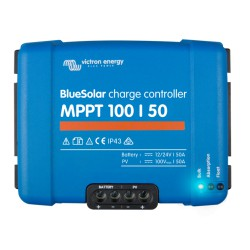 Blue Solar MPPT 12/24V - 50A - 100/50. Wymiary: 130 x 186 x 70 mm