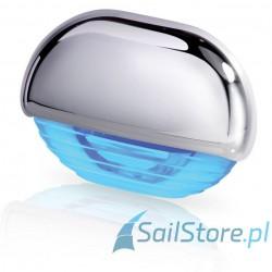 Lampa EasyFit LED, niebieska z chromowaną obudową z tworzywa